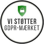 Vi støtter GDPR-Mærket
