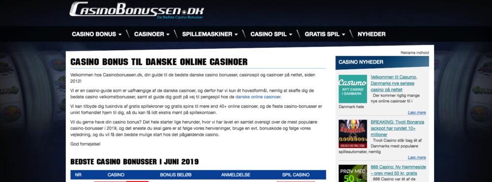 Casinobonussen.dk